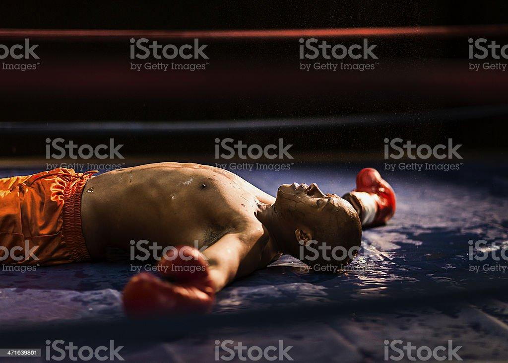 Knockout stock photo