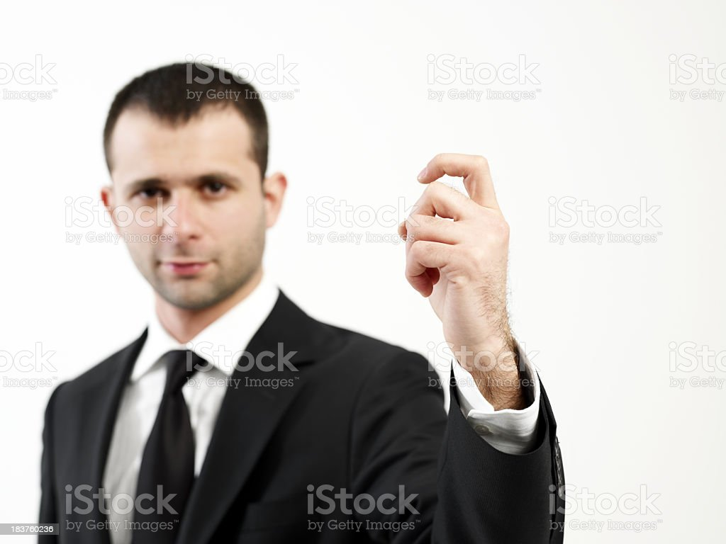 Knock.Who is it? royalty-free stock photo