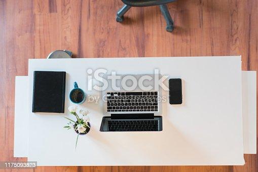 istock Knolling modern work desk  . 1175093823