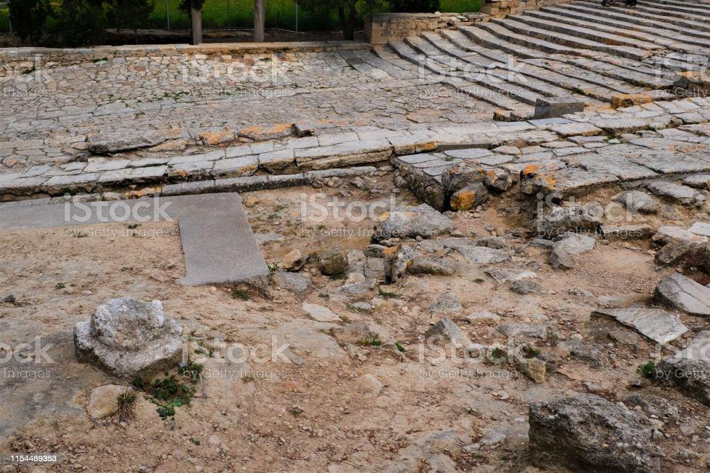 Knossos Palace archaeological site, Heraklion, Crete, Greece Site...
