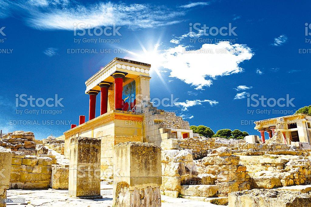 Knossos palace at Crete, Greece Knossos Palace stock photo