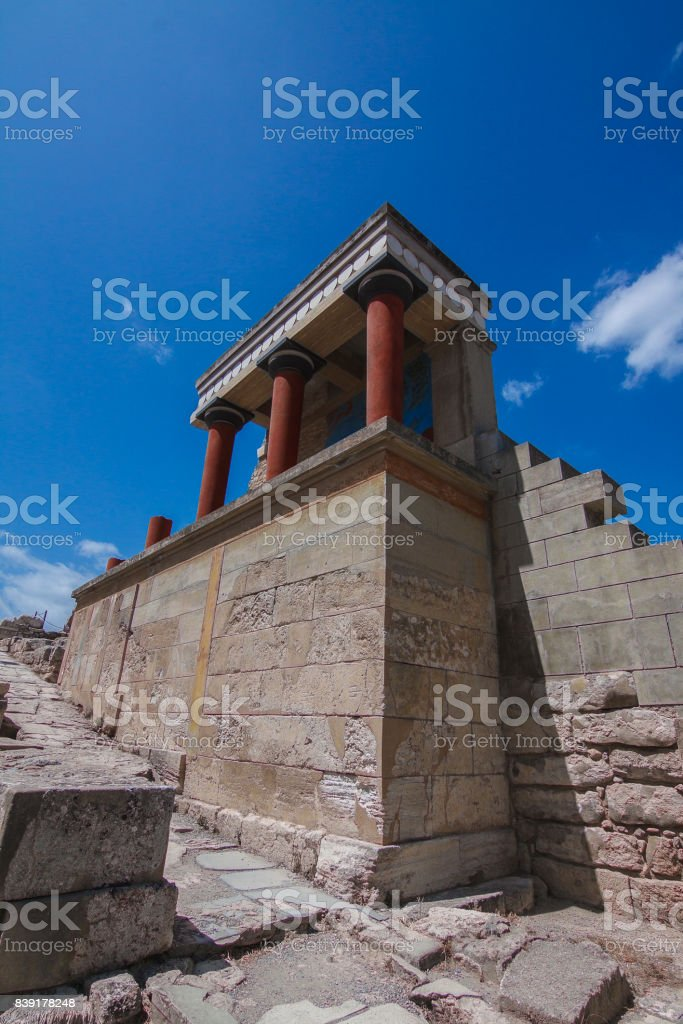 Knossos Palace North Entrance stock photo