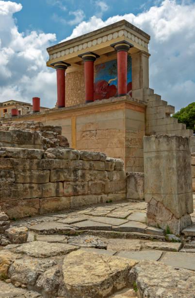Knossos palace on Crete, Greece stock photo