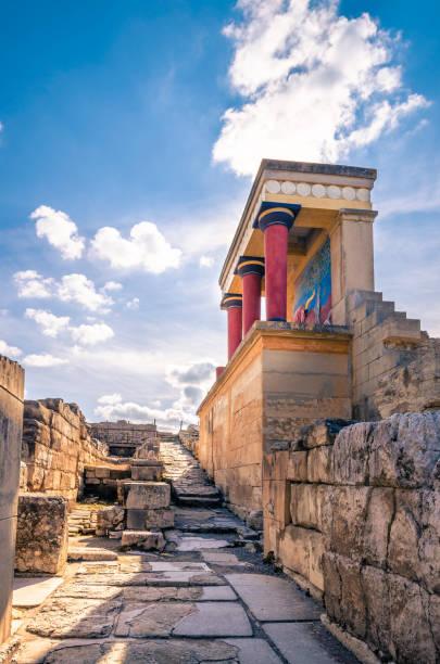 Knossos palace ruins at Crete, Greece – Foto