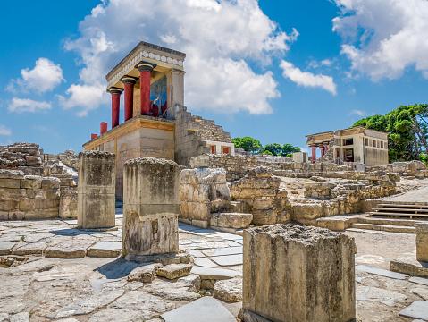istock Knossos palace ruins at Crete island, Greece. Famous Minoan palace of Knossos 1166161479