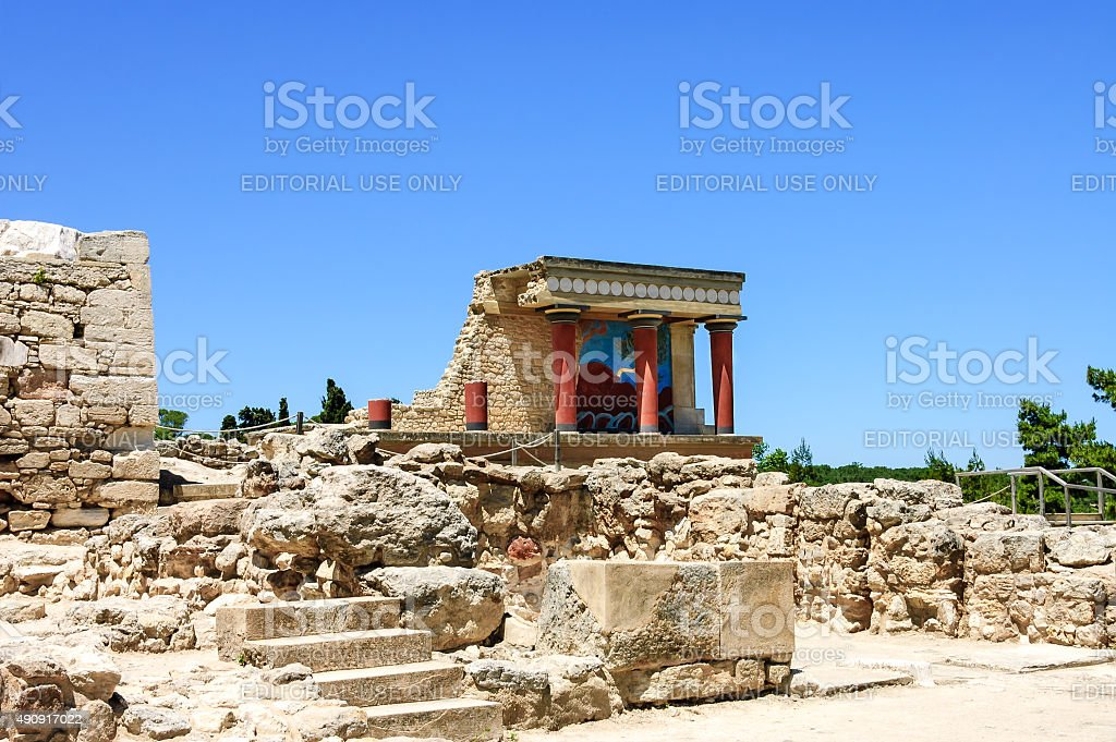 Knossos Palace scenic view stock photo