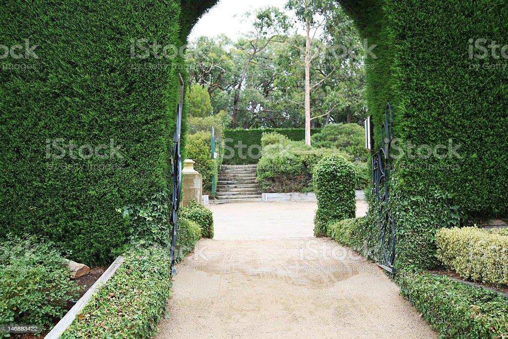 Photo libre de droit de Jardin À La Française Porte banque d ...