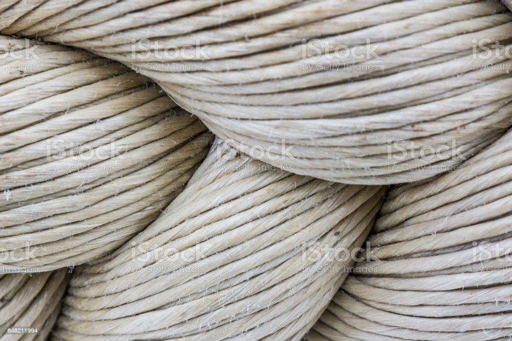 Knot of hemp rope stock photo