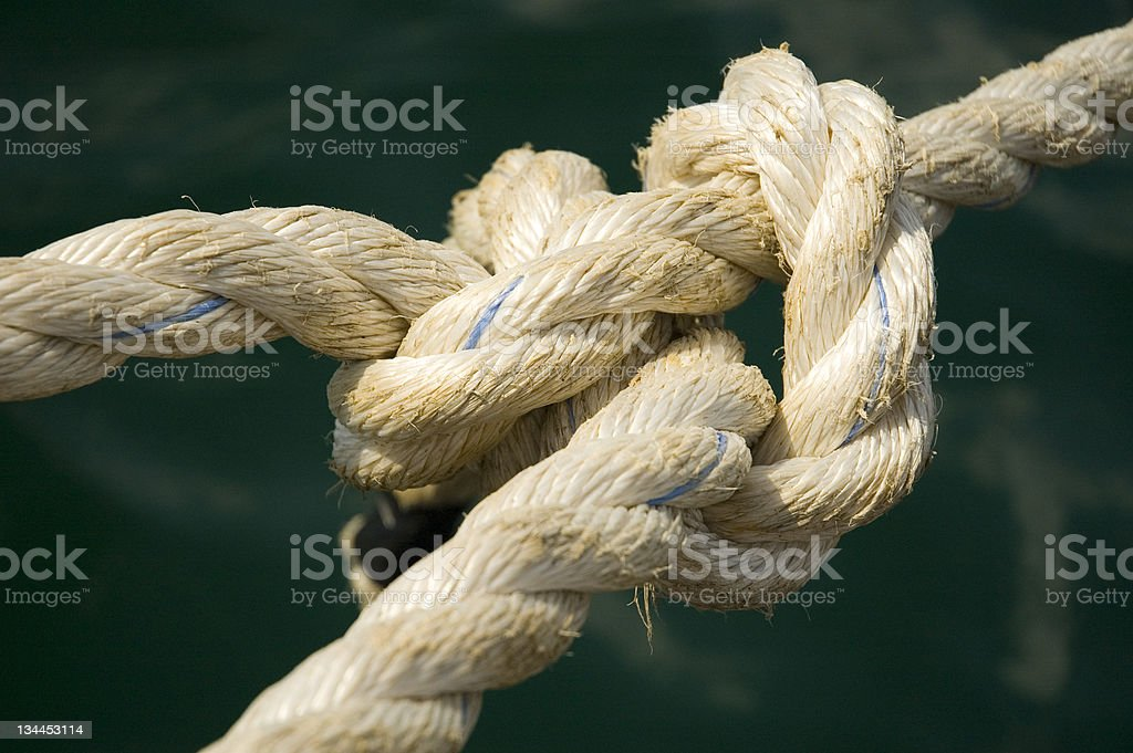 Knot on the rope royalty-free stock photo