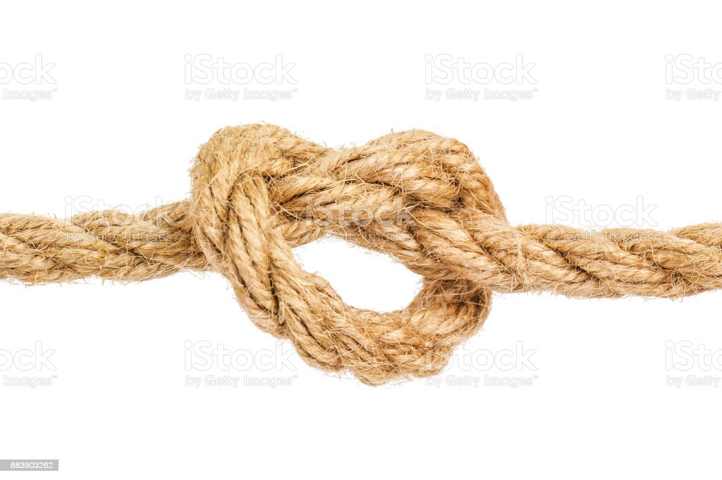 knot on the rope stock photo