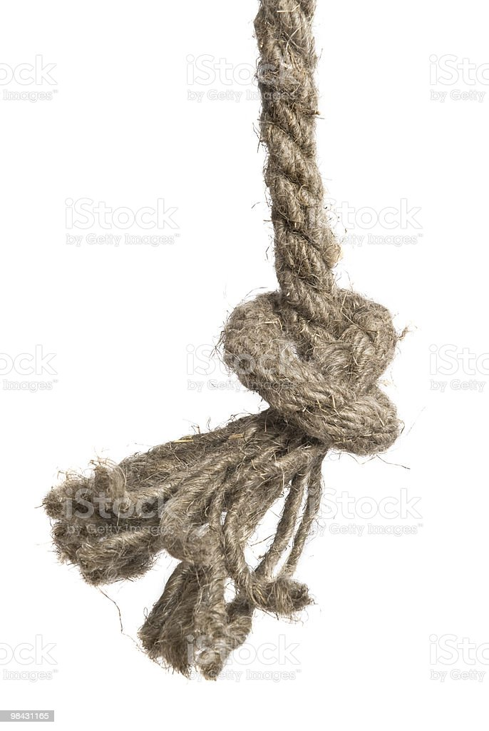 Knot rope isolated on white royalty-free stock photo