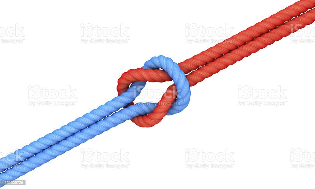Knot. Togetherness metaphor royalty-free stock photo