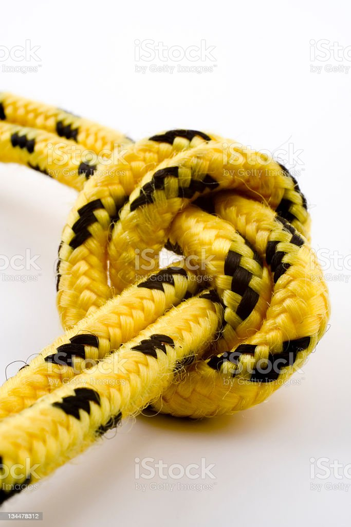 Knot with clipping path stock photo