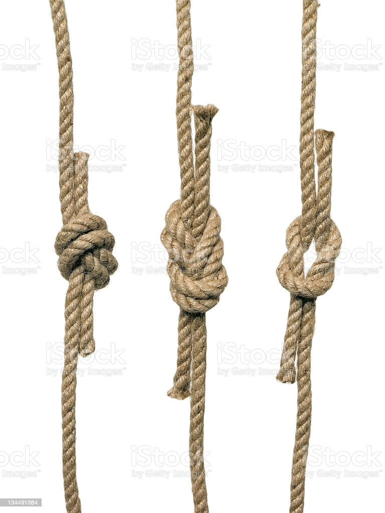Knots on the white background (isolated). stock photo
