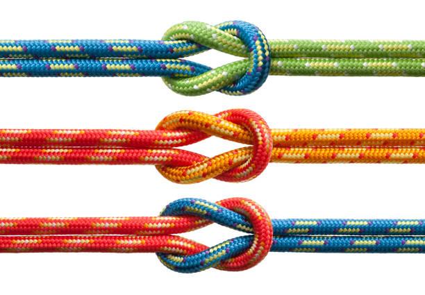 Knots com cordas coloridas - foto de acervo