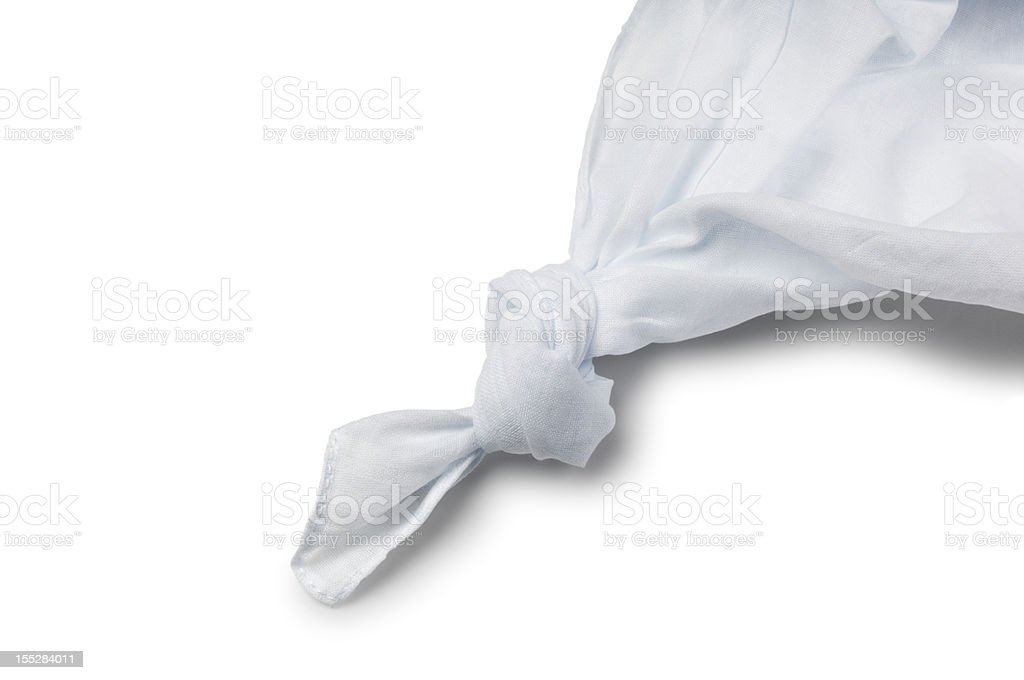Knotted Handerkerchief stock photo