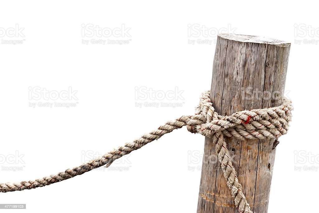 Knotted Post stock photo