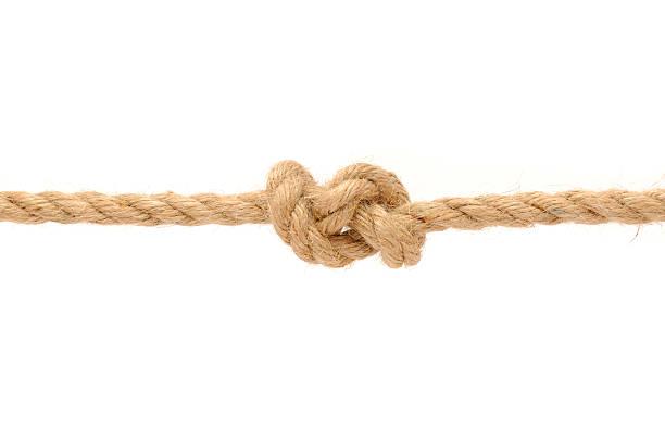 A juta corda com Nó - foto de acervo