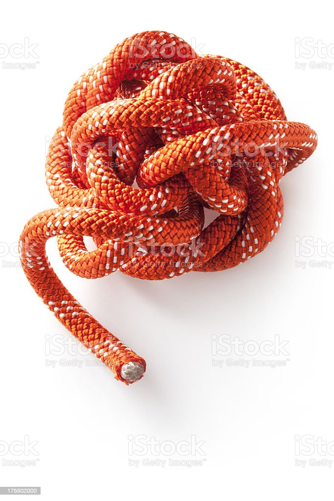 Knotted rope royalty-free stock photo