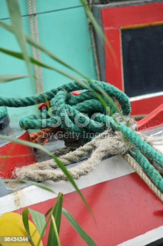 Knotted Ropes Stock Photo & More Pictures of Attached