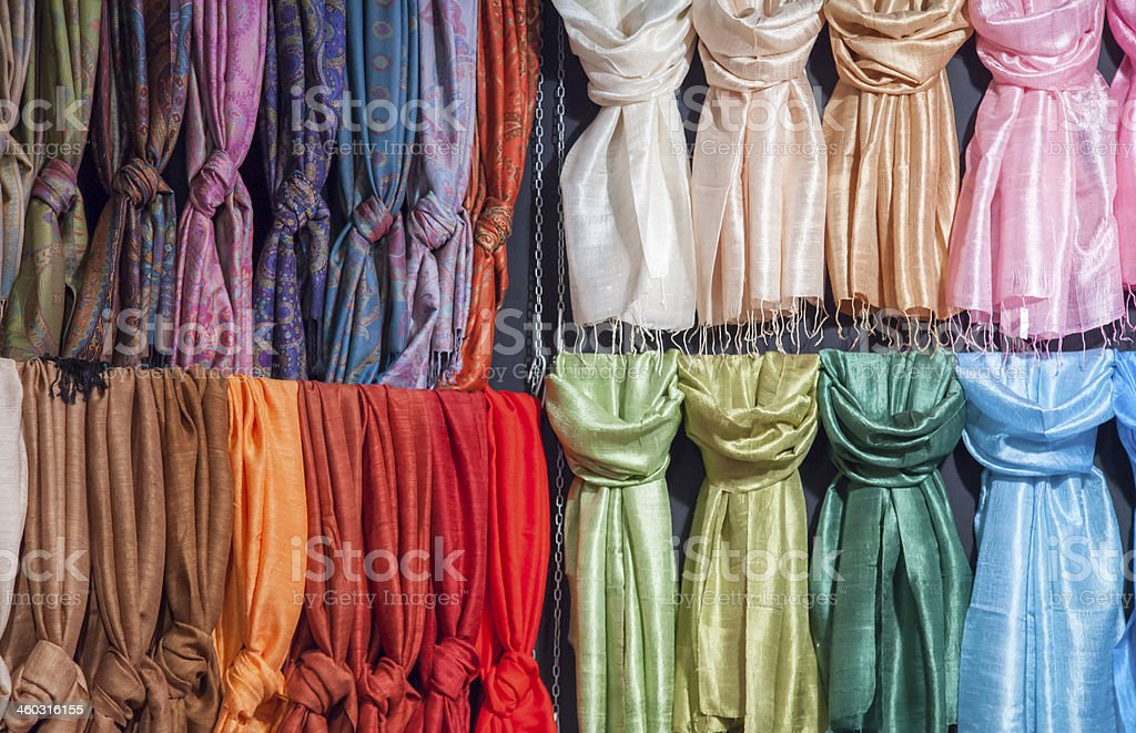 Knotted scarves stock photo