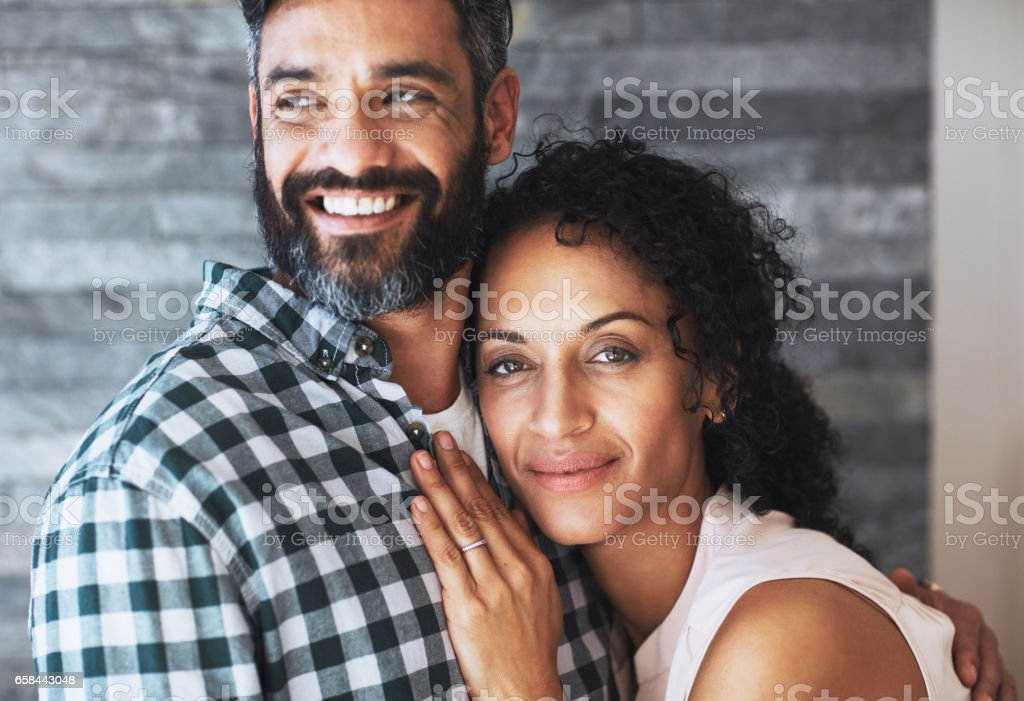 I know his heart beats for me stock photo