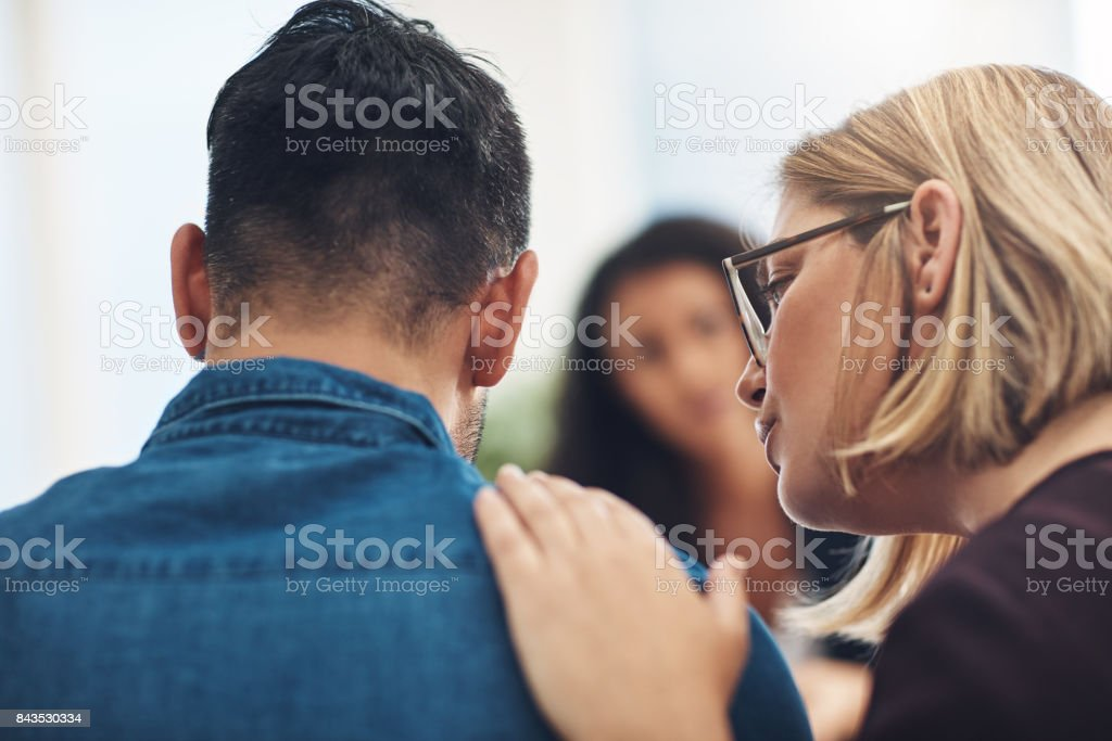 I know it hurts and I'm here for you - foto stock