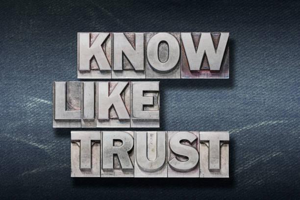 wissen, wie, vertrauen in den - trust stock-fotos und bilder