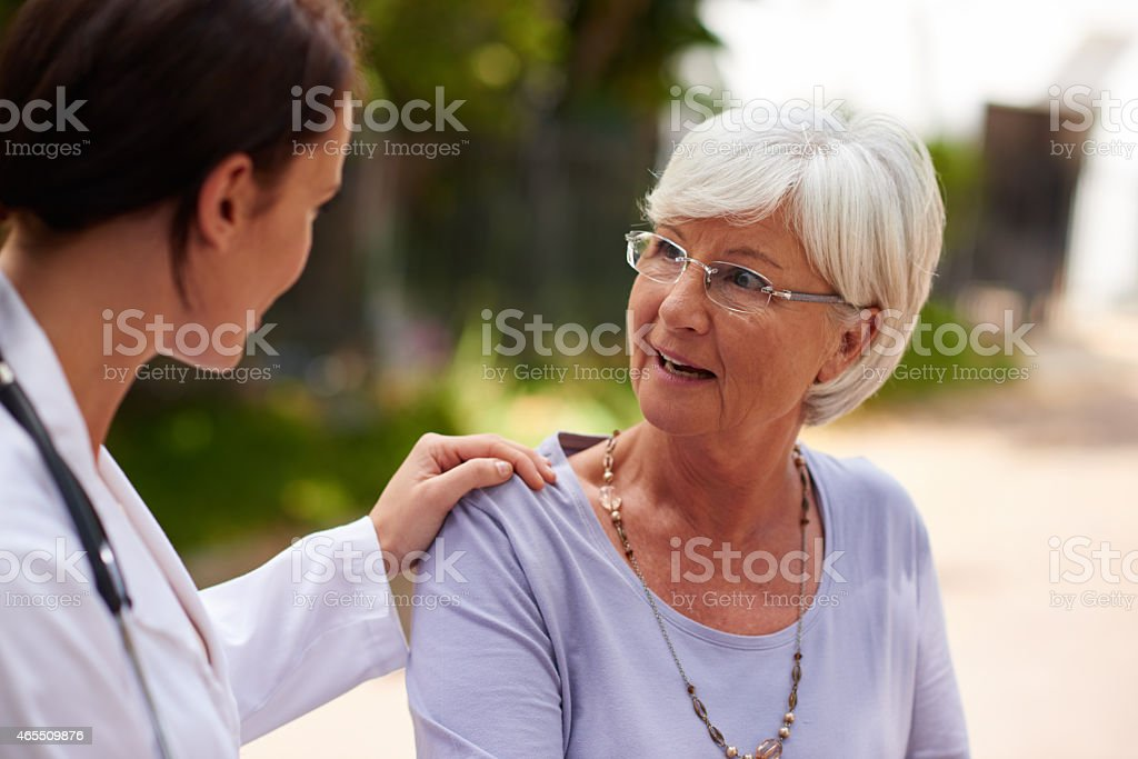 I know she's always there to listen stock photo