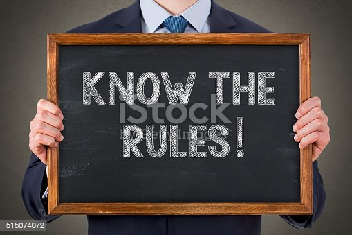 istock Know The Rules on Blackboard 515074072