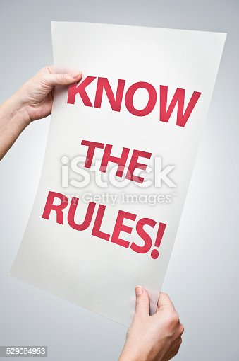 istock Know the rules! (Click for more) 529054953