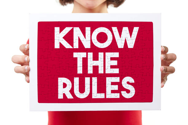 know the rules puzzle stock photo