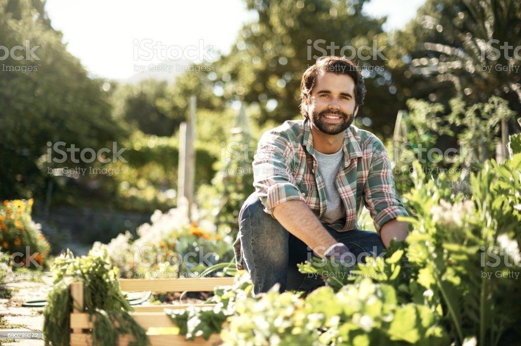 Ich weiß, was mein Garten wachsen macht – Foto