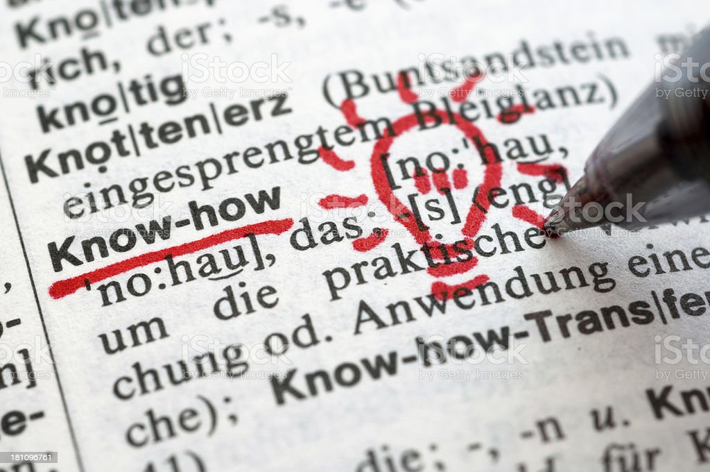 Know-how - German word drawing royalty-free stock photo