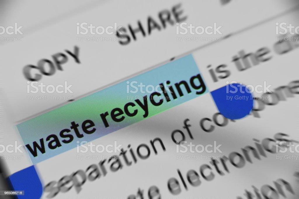 Knowledge about Waste Recycling online zbiór zdjęć royalty-free