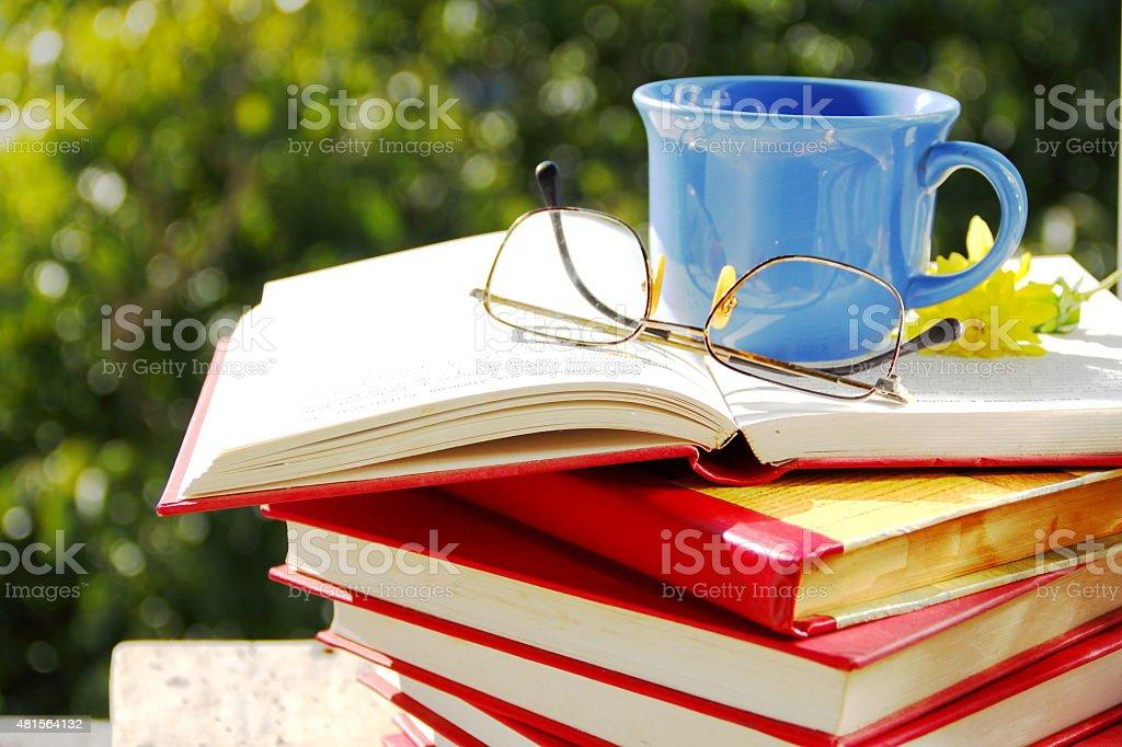 Knowledge and pleasure. stock photo