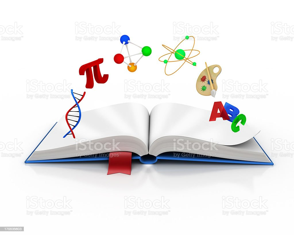 knowledge and school learning book royalty-free stock photo