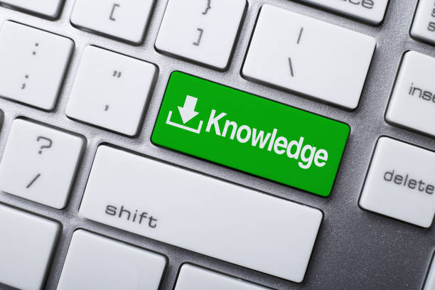 Knowledge Button On Keyboard stock photo