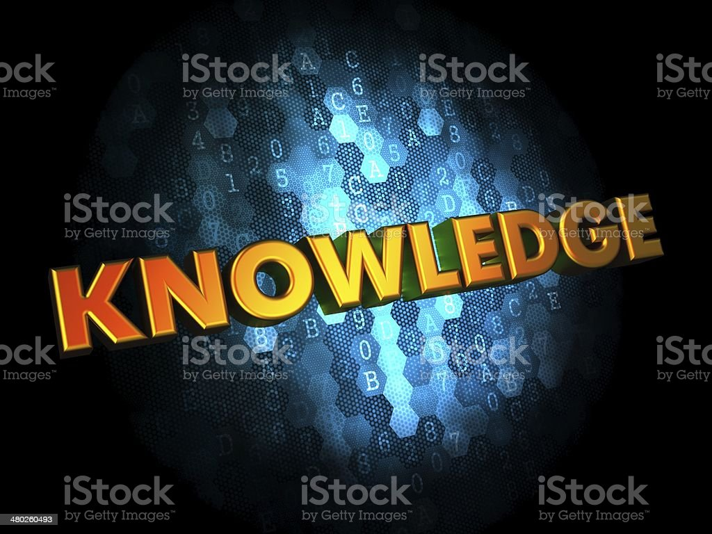 Knowledge Concept on Digital Background. stock photo