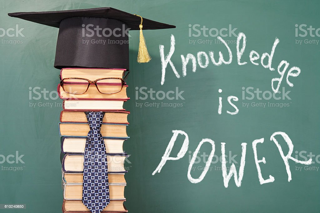 Knowledge is Power education funny concept – Foto
