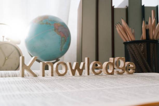 Wissenswort zu einem Buch- und Schulhintergrund,Bildungs- und Wissenskonzept – Foto
