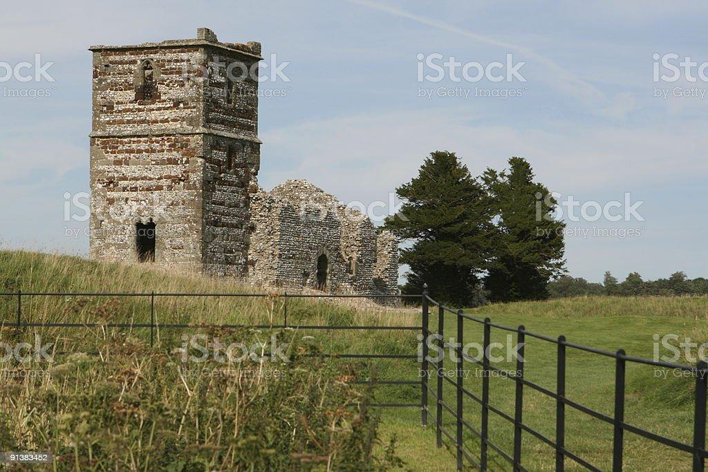 Knowlton Church Dorset England royalty-free stock photo