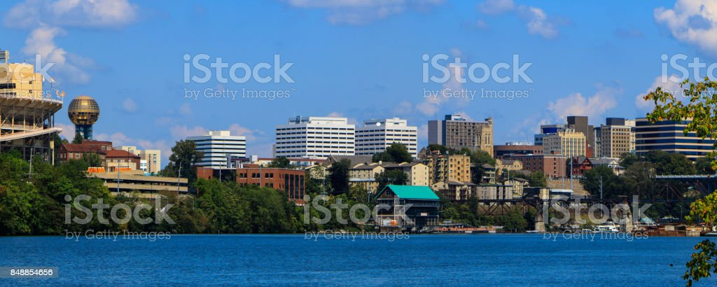 Knoxville on the Tennessee River stock photo