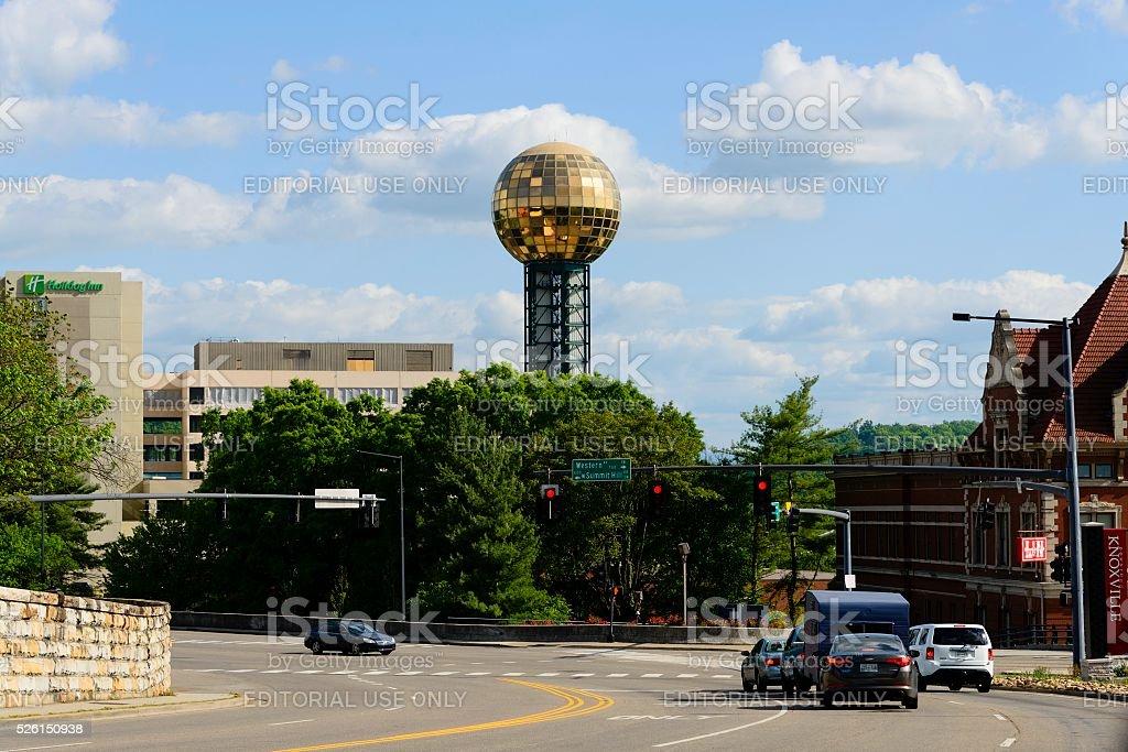 Knoxville Street Scene stock photo