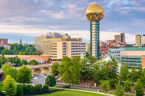 Knoxville Tennessee Usa Skyline Stock Photo - Download Image Now