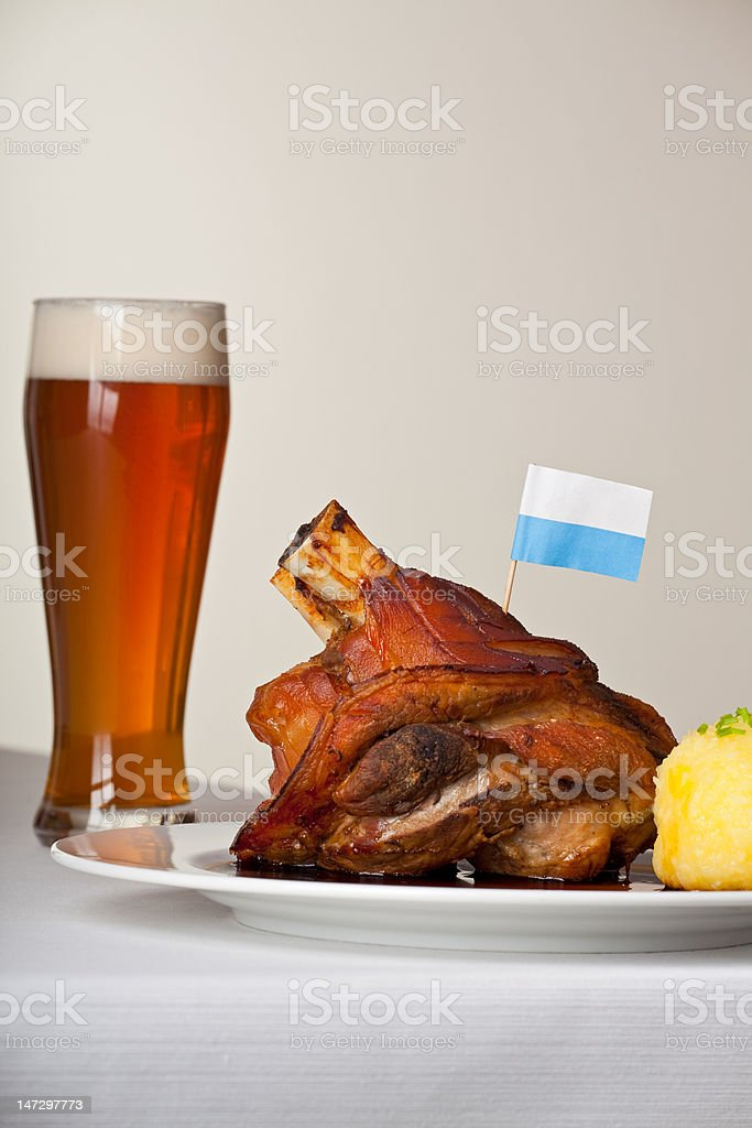 knuckle of pork royalty-free stock photo
