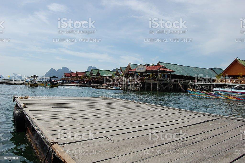 Ko Panyi village pier, Phang-Nga bay - Thailand royalty-free stock photo