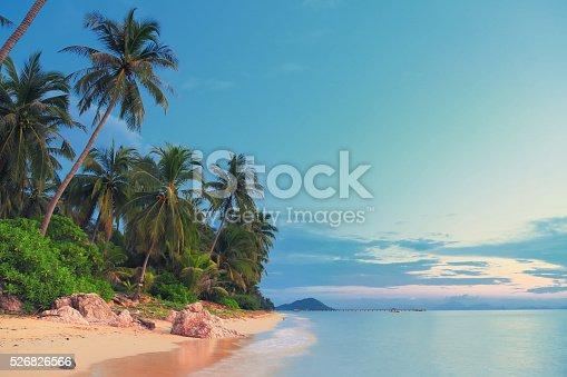 Beach near Taling Ngam at sunset, Ko Samui
