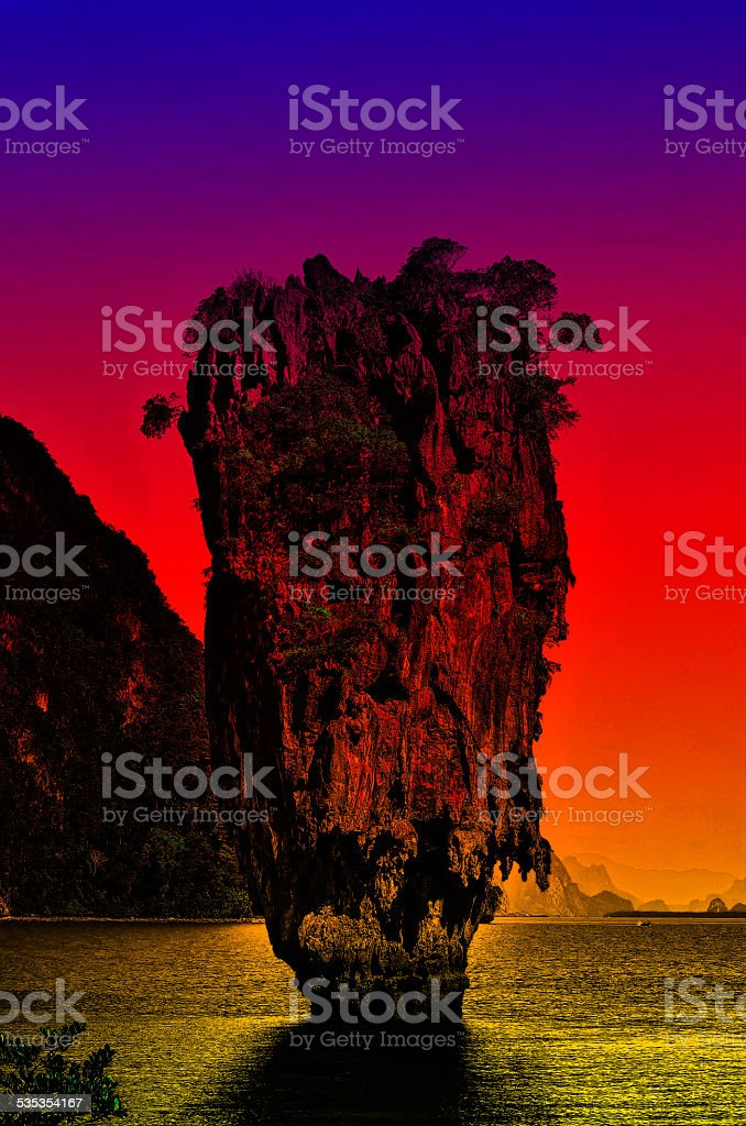 Ko Tapu Island in Thailand near Phuket island stock photo