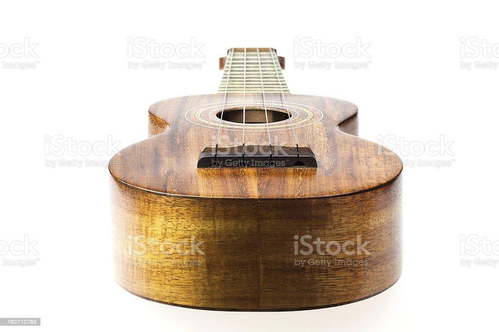 Koa ukulele stock photo
